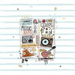 Detalle Edredón Ajustable MUSIC Tejidos JVR