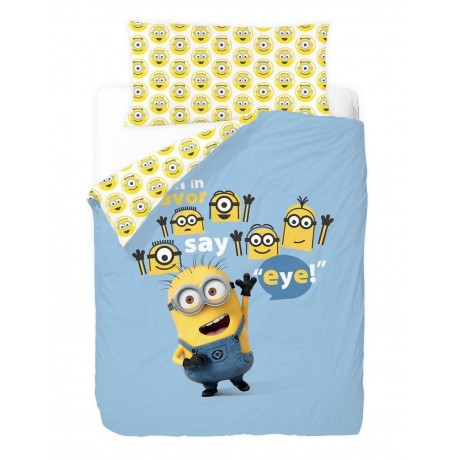 "Funda Nórdica Reversible ""Minions Eye"""